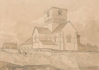 South-east View Of The Church Of Lery Print by John Sell Cotman