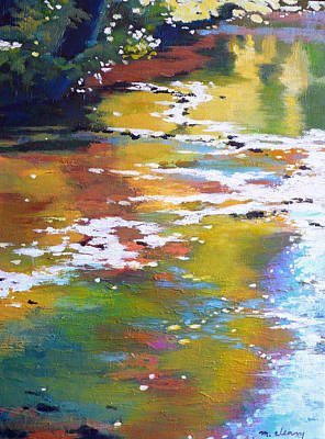 Impressionistic Landscape Painting - South Fork Silver Creek by Melody Cleary