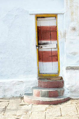Tattered Photograph - South Indian Village Door by Tim Gainey