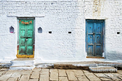 Tattered Photograph - South Indian Village Doors by Tim Gainey