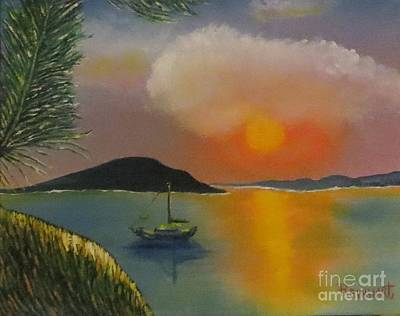 Seafarer Painting - South Pacific Sunrise by Ron Reinhart