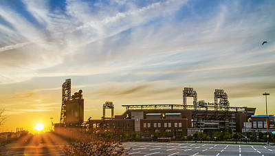 South Philly Sunrise - Citizens Bank Park Print by Bill Cannon