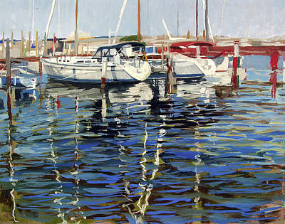 Lakefront Painting - South Shore Yacht Club No.12 by Anthony Sell