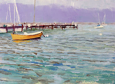 Lakefront Painting - South Shore Yacht Club No.5 by Anthony Sell