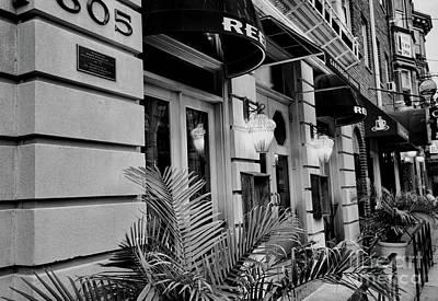 South St Restaurant Bw Print by Chuck Kuhn