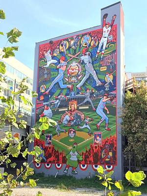 South Street Phillies Mural Print by Alice Gipson