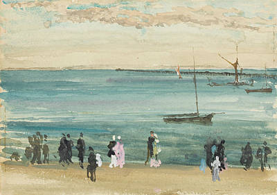 Tonalist Painting - Southend Pier by James Abbott McNeill Whistler