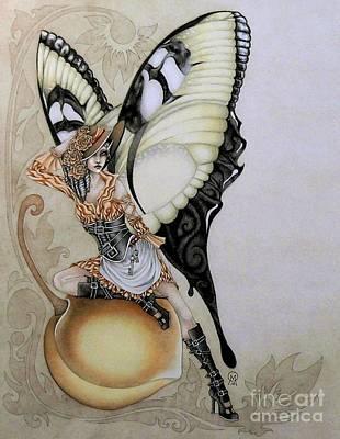 Faery Artists Mixed Media - Southern Bellepunk Swallowtail by Ora  Moon