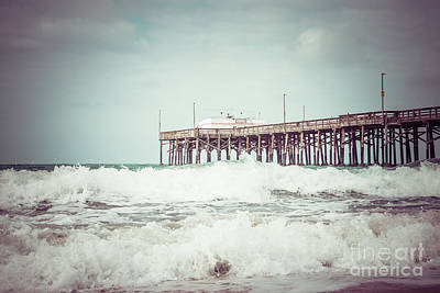 Newport Beach Photograph - Southern California Pier Vintage 1950s Picture by Paul Velgos