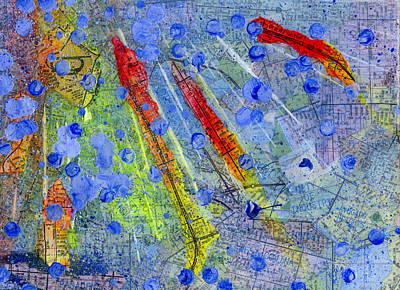 Southern California Splatter Map - Pasadena Original by Sean Corcoran