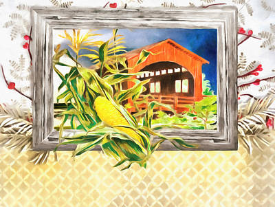 Covered Bridge Painting - Southern Comfort by L Wright