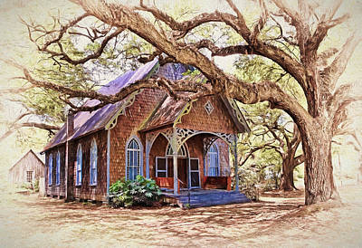Churches Photograph - Southern Country Charm by Marcia Colelli