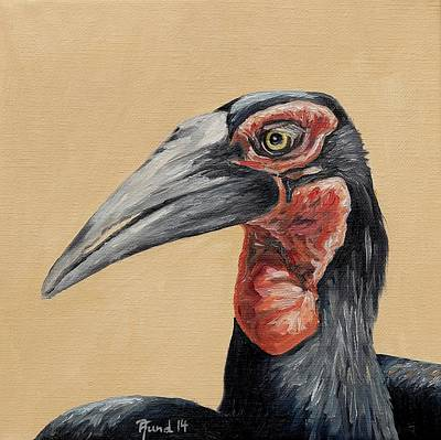 Hornbill Painting - Southern Ground Hornbill by Alexander Fund