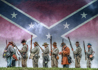 Infantry Digital Art - Southern Heritage Southern Pride by Randy Steele