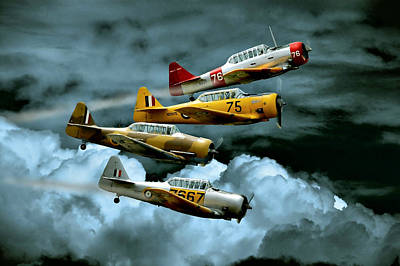 Airplane Digital Art - Southern Knights by Steven Agius