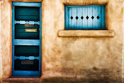 Screen Doors Photograph - Southwest Blues by Lana Trussell