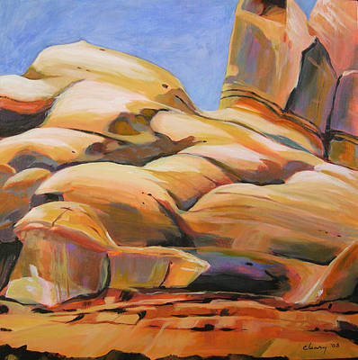 Painting - Southwest Stillness 3 by Melody Cleary