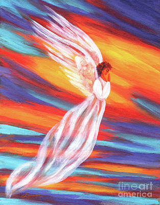 Religious Art Painting - Southwest Sunset Angel by Laura Iverson