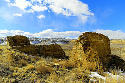 Chaco Canyon Photograph - Southwestern Ruins by Jeff Swan