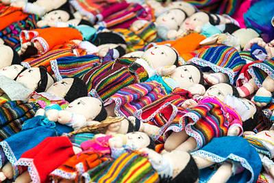Ethnic Dolls Photograph - Souvenir Dolls In Otavalo by Jess Kraft