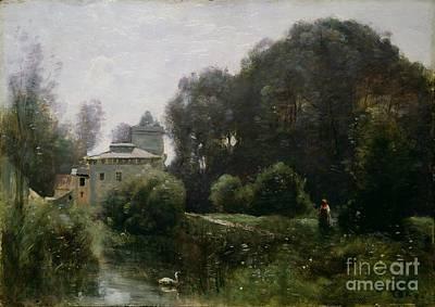 Souvenir Of The Villa Borghese Print by Jean Baptiste Camille Corot