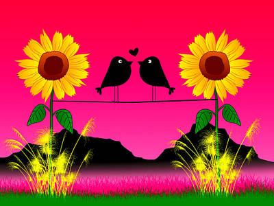 Lovebird Digital Art - So....we're Birds Then..... by Peter Stevenson
