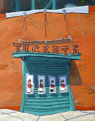 Boston Red Sox Painting - Sox Tickets by Mike Gruber