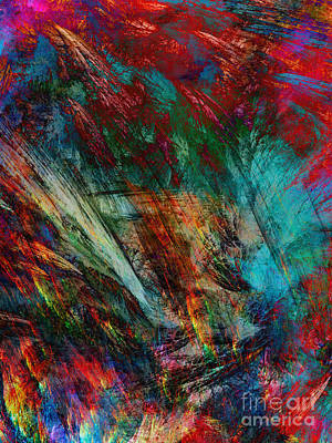 Abstraction Painting - Space 6 by Justyna JBJart