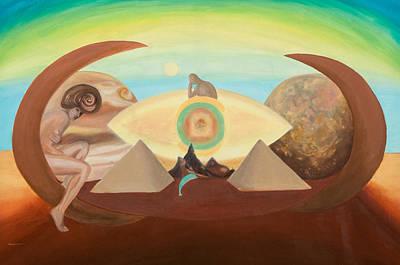 Subconscious Painting - Space by Mariana Lisina