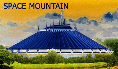 Coaster Painting - Space Mountain by David Lee Thompson