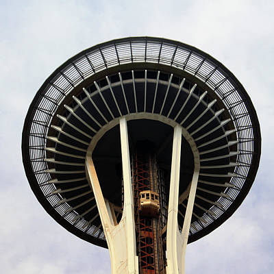 Washington Photograph - Space Needle- By Linda Woods by Linda Woods