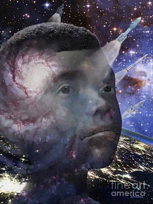 Digital Art - Space Vessel by Joseph Juvenal