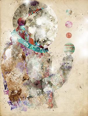 Astronauts Digital Art - Spaceman by Bri B