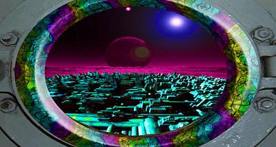 Other Worlds Digital Art - Spaceport by Mark Reiser