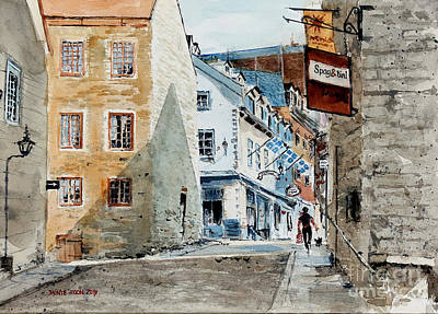 Quebec Cities Painting - Spag And Tini by Monte Toon
