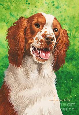 Digital Painting - Spaniel by John Francis