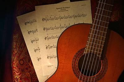 Flamenco Guitar - Spanish Romance / Spanish Guitar Print by D S Images