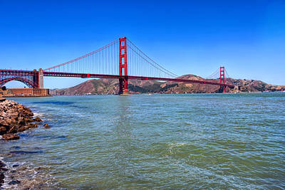 Presidio Park Photograph - Spanning The Golden Gate Strait by John M Bailey