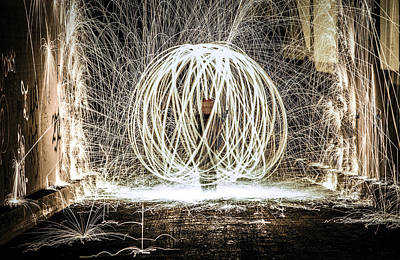 Sparks At Night Print by Big Lyrik Ent