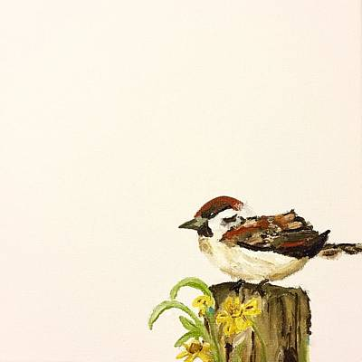 Pai Painting - Sparrow by Esther Pai