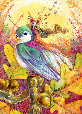 Sparrow's Song Print by Sara Burrier