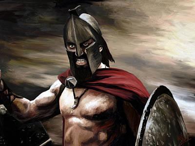 Spartan Print by James Shepherd
