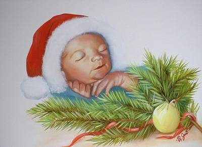 Baby Painting - Special Christmas Delivery by Joni McPherson