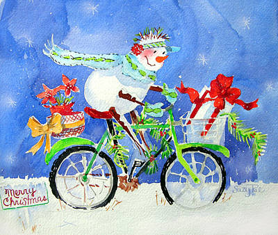 Wreath Painting - Special Delivery by Suzy Pal Powell