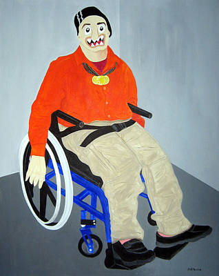 Funism Painting - Special Olympian by Sal Marino