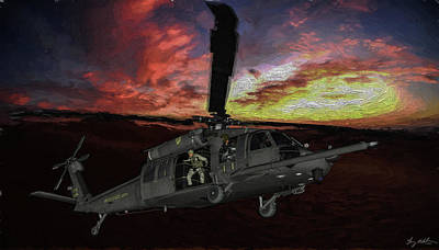 Digital Art - Special Ops Insert - Oil by Tommy Anderson