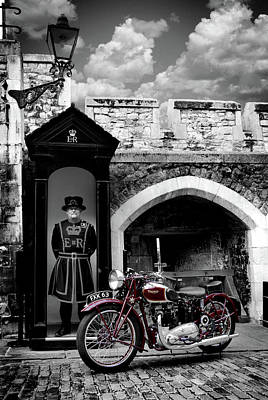 London Photograph - Speed Twin At The Tower by Mark Rogan