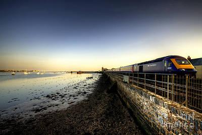 Train Station Photograph - Speeding Thro Starcross by Rob Hawkins