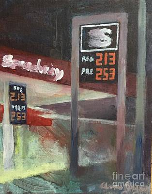 Premium Gas Painting - Speedway by Claire Gagnon