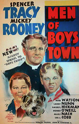 Spencer Tracy In Men Of Boys Town 1941 Print by Mountain Dreams